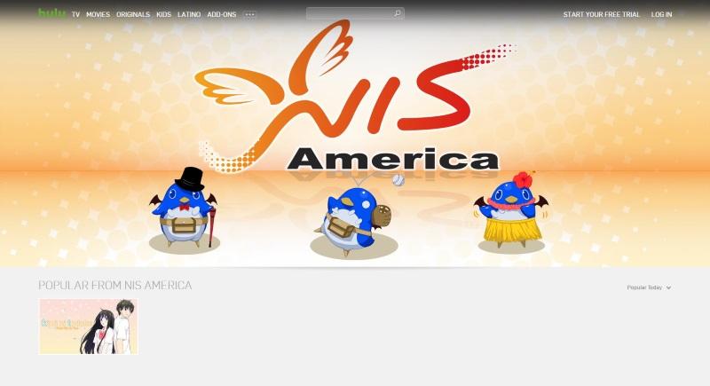 NIS America - Hulu Listing - 20160622
