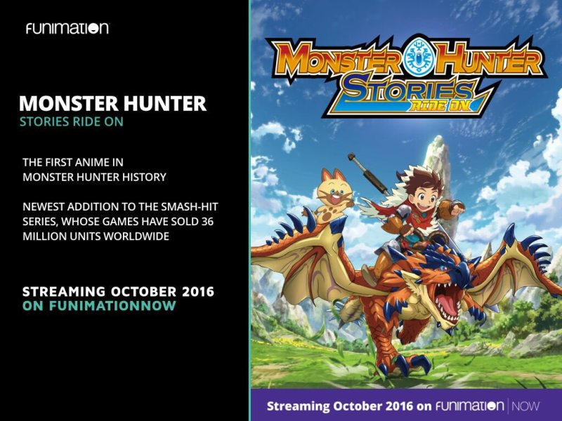 Otakon 2016 Funimation Adds Monster Hunter Stories Ride On Anime