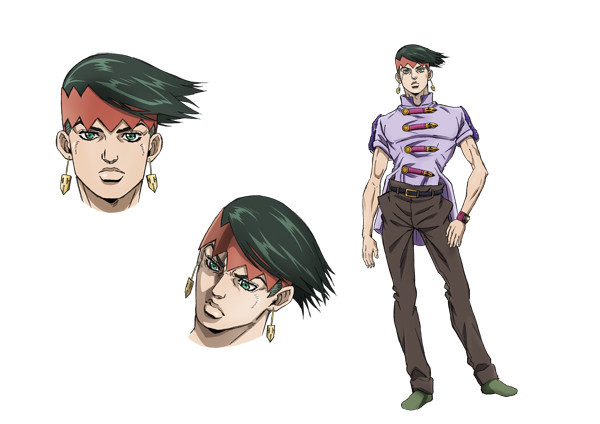 First visual character designs for jojo 39 s bizarre for Rohan design