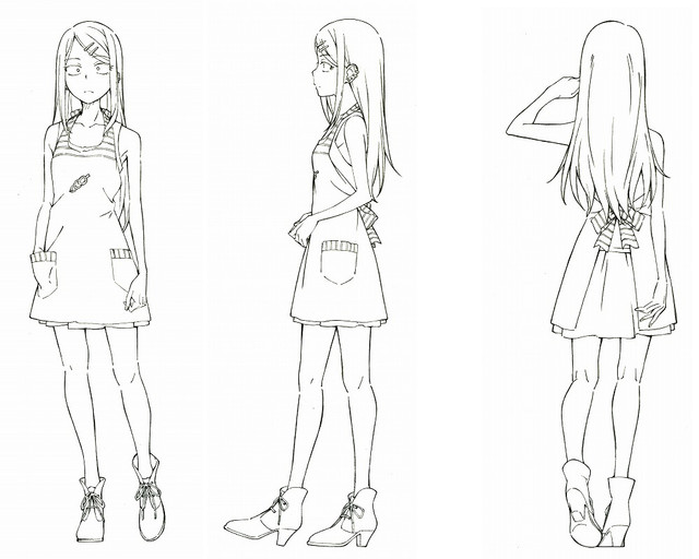 Nbos Character Sheet Designer Review : Dagashi kashi character design anime herald